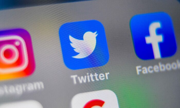 Logos of Twitter and other social networking websites in a file photo. (Denis Charlet/AFP/Getty Images)