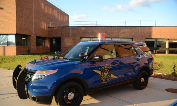 A Michigan State Police car. (Joe Ross/ cc-by-sa-2.0)