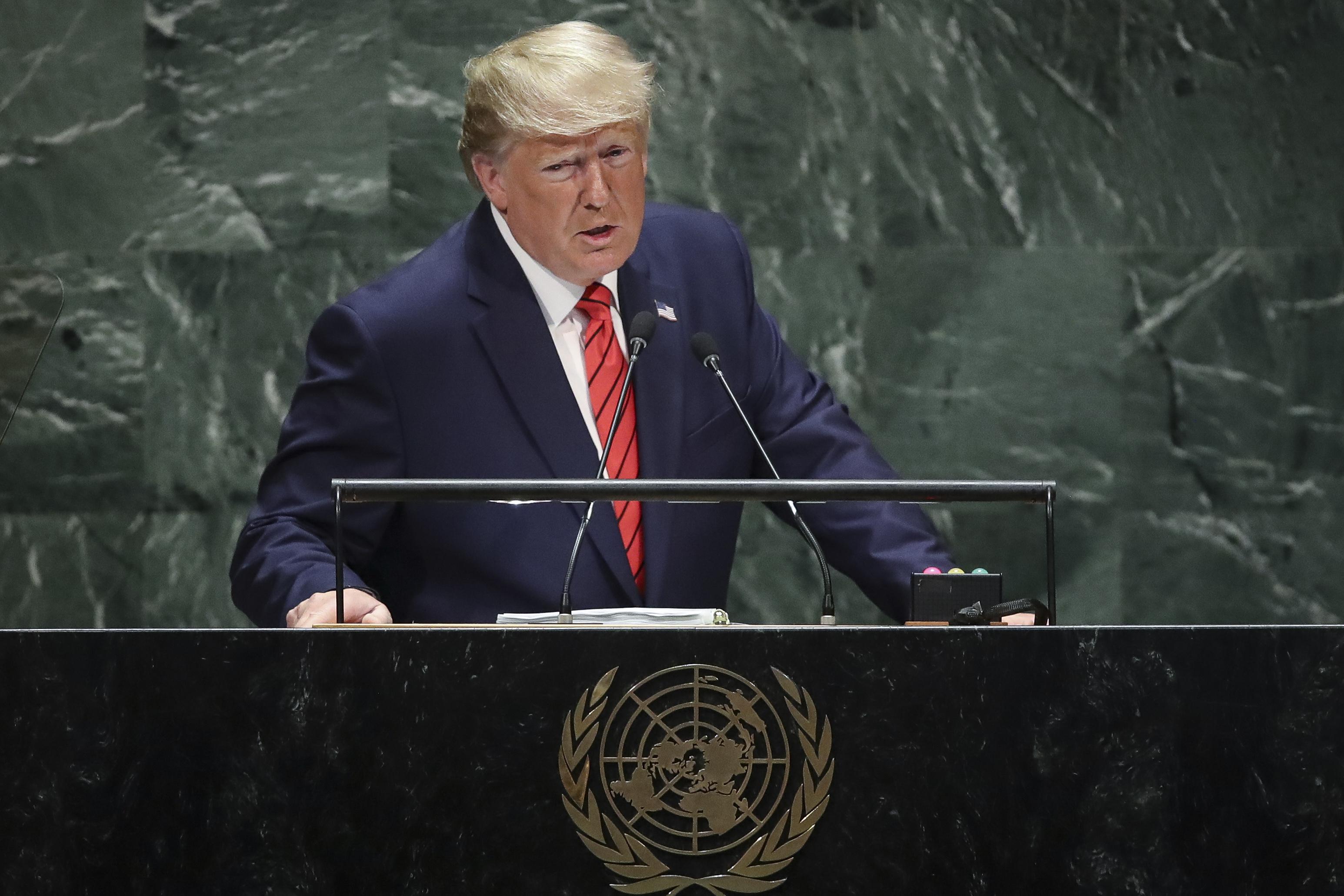 Donald Trump addresses the U.N.