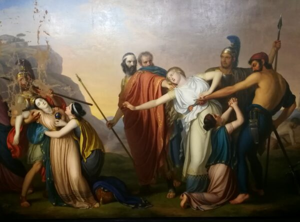 Antigone condemned to death by Creon