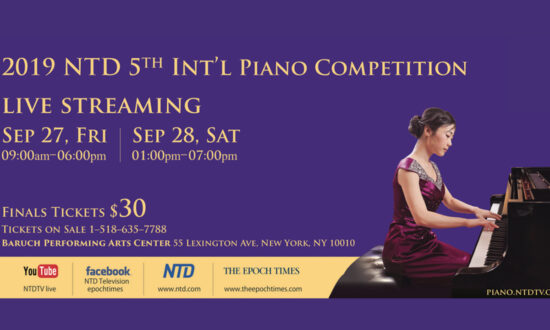 The Epoch Times to Live Broadcast Finals of NTD 5th International Piano Competition