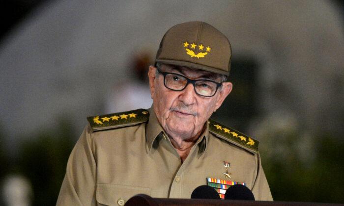 Cuban First Secretary of Communist Party Raul Castro Ruz gives a speech, on Jan. 1, 2019. (Yamil Lage/Pool via Reuters)