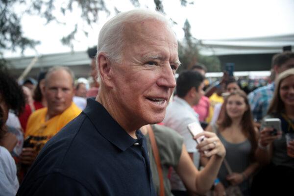 Joe Biden greets guests
