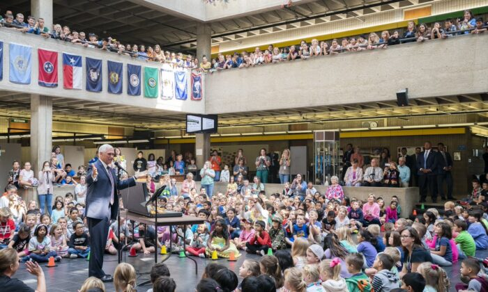 Vice President Mike Pence at Southside Elementary School in his hometown of Columbus, Indiana on Sept. 27, 2019. (Vice President's Office)