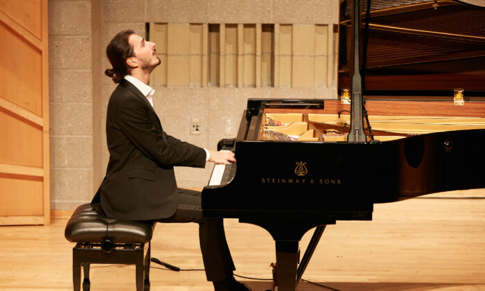 Nicolas Giacomelli at the NTD International Piano Competition in New York. (Epoch Times)