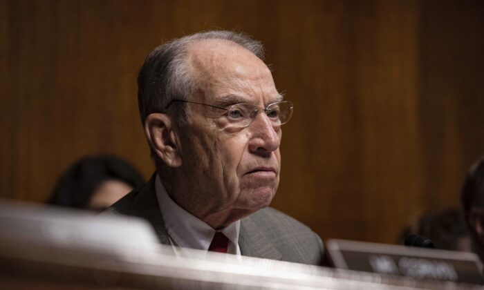 U.S. Senator Chuck Grassley (R-Iowa), speaks during a Senate Judiciary Committee hearing with Acting Homeland Security Secretary Kevin McAleenan on Capitol Hill in Washington on June 11, 2019. (Anna Moneymaker/Getty Images)