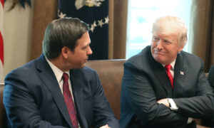Florida Gov. DeSantis to Miss Trump Rally in Sarasota