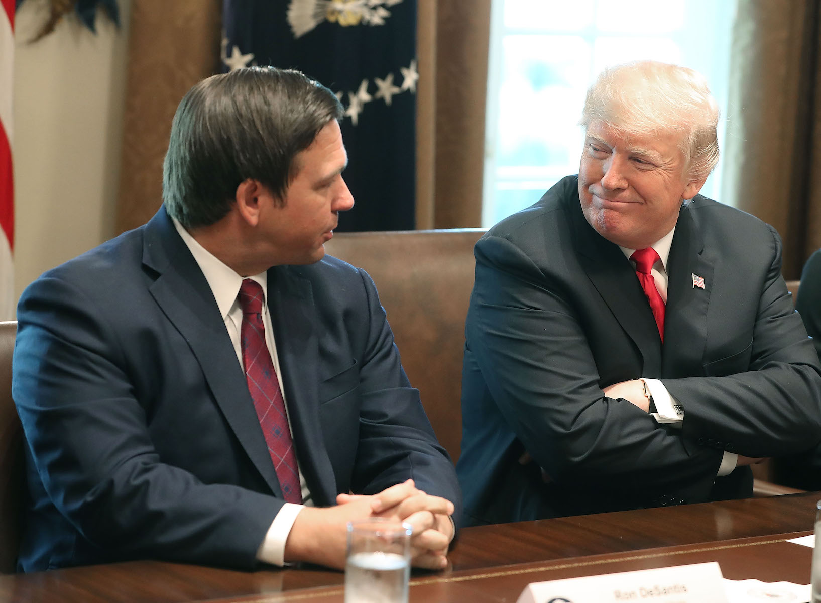 President Trump Meets With Governors-Elect In The Cabinet Room Of White House