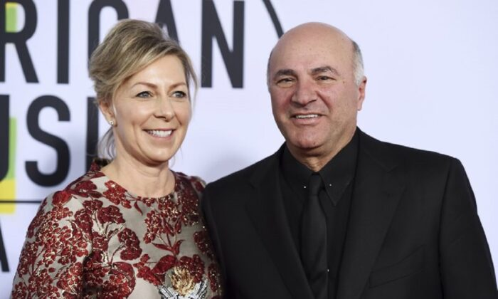 Linda O'Leary and Kevin O'Leary arrive at the American Music Awards at the Microsoft Theater in Los Angeles on Nov. 19, 2017. (Jordan Strauss/Invision/AP, File)