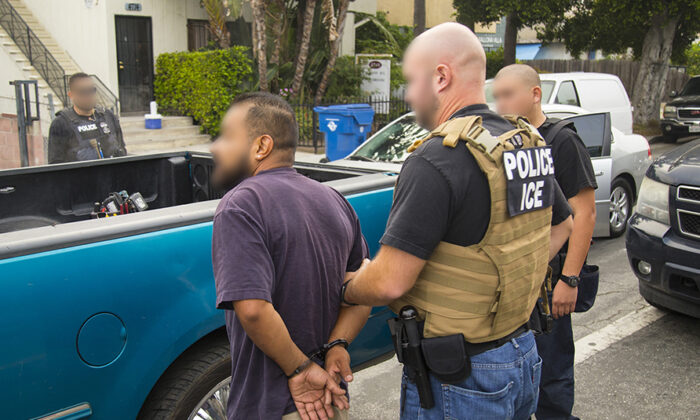 ICE agents carry out an operation to arrest illegal immigrants in New York on Sept. 26, 2019. (ICE)