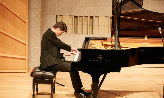 Vladimir Petrov from Mexico at the NTD International Piano Competition in New York. (The Epoch Times)