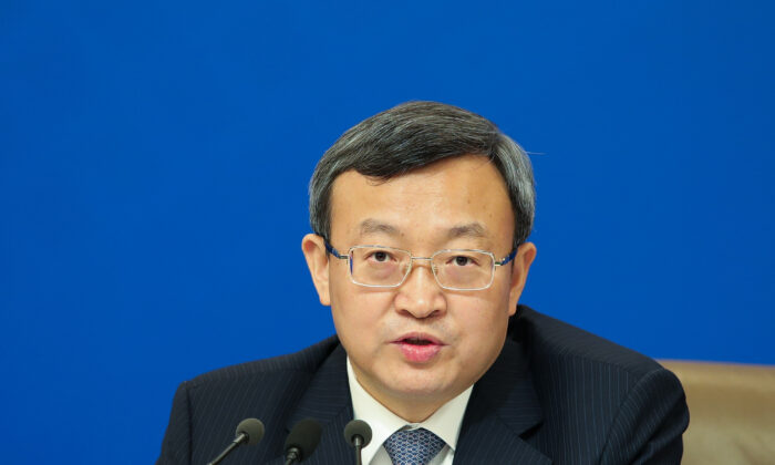 China's vice commerce minister Wang Shouwen, attends a press conference in Beijing on March 9, 2019. (Lintao Zhang/Getty Images)