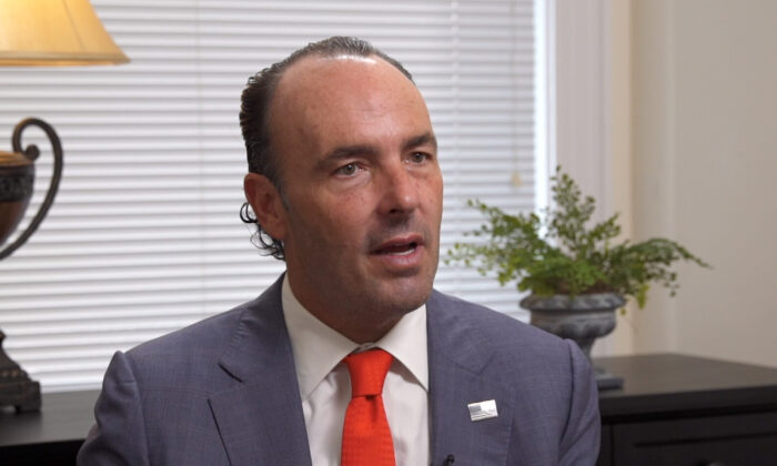 Kyle Bass, the founder and chief investment officer of Hayman Capital Management and a founding member of the Committee on the Present Danger: China, in Washington on Sep. 26, 2019. (Samira Bouaou/The Epoch Times)