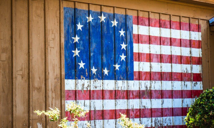 Our flag representing the 13 original colonies. (David Smart / Shutterstock)