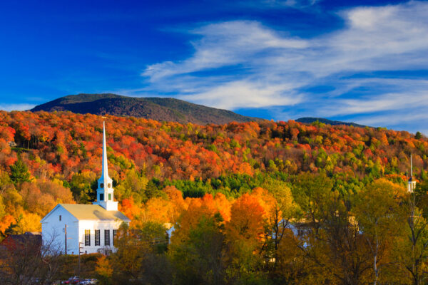 Fall Foliage and the Stowe, Vermont