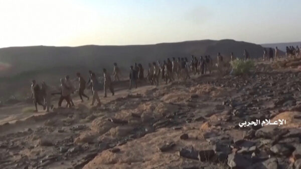 Photos from Houthis military media center