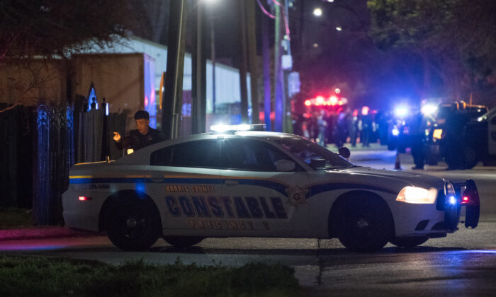 Houston police at a crime scene in this file image from Jan. 28, 2019 in Houston, Texas. (Loren Elliott/Getty Images)