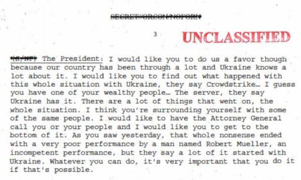 excerpt trump zelensky transcript