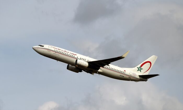 A Boeing 737 NG/Max of Morocco company Royal Air Maroc taking off from the Toulouse-Blagnac airport, near Toulouse, on Sept. 27, 2019 (Pascal Pavani/AFP/Getty Images)