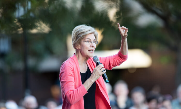 Democratic presidential candidate Sen. Elizabeth Warren (D-Mass.) speaks during a Town Hall at Keene State College in Keene, New Hampshire on Sept. 25, 2019. (Scott Eisen/Getty Images)