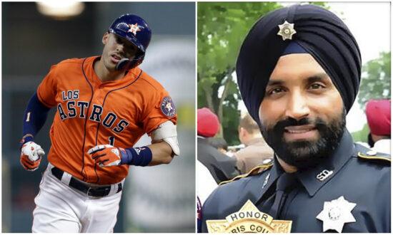 Astros' Carlos Correa Donates $10,000 to Family of Murdered Texas Deputy Sandeep Dhaliwal