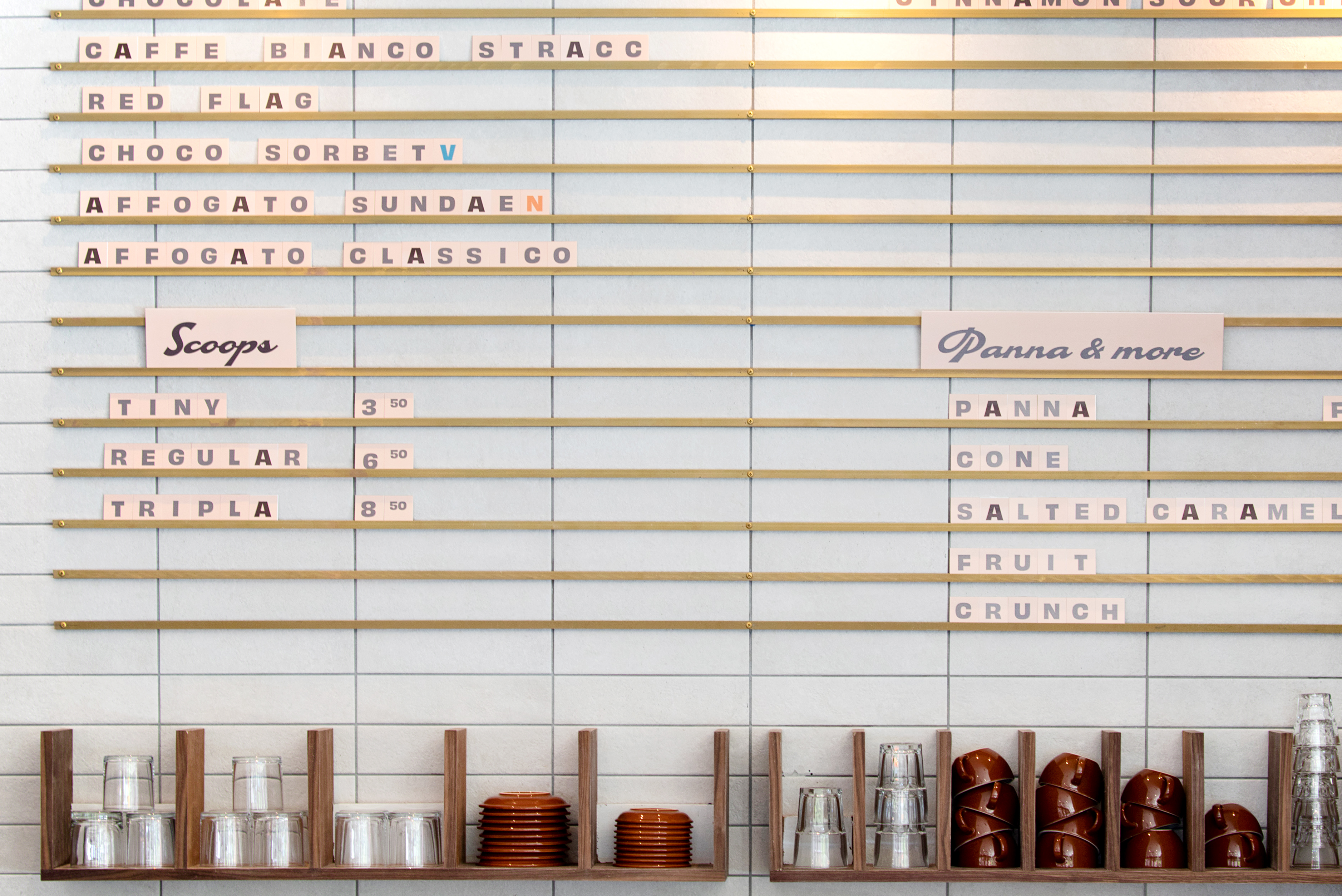 menu caffe panna