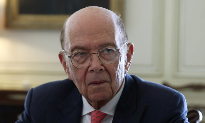 U.S. Commerce Secretary Wilbur Ross meets with Greek Prime Minister Kyriakos Mitsotakis (not pictured) at the Maximos Mansion in Athens, Greece on Sept. 5, 2019. (Costas Baltas/Reuters)