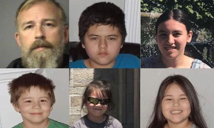 From the top left: Ian MacDermid, 49, Magnus, 14, Eska, 13, Mattias, 10, Evalyn, 5, Sovereign, 11. (Niagara Regional Police)