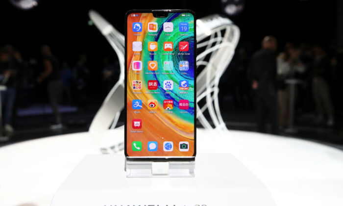 A new Huawei Mate 30 smartphone is pictured at the Convention Center in Munich, Germany on Sept. 19, 2019. (Michael Dalder/Reuters)