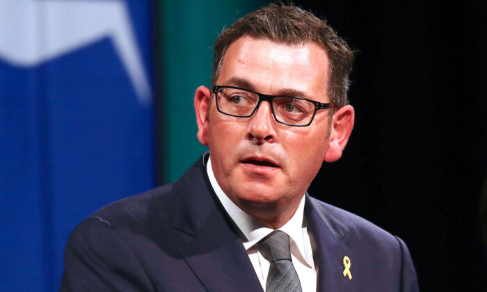 Victorian Premier Daniel Andrews speaks during the State Commemoration for the 10 year anniversary of the 2009 Victorian bushfires in Melbourne, Australia on Feb. 4, 2019. (Michael Dodge/Getty Images)