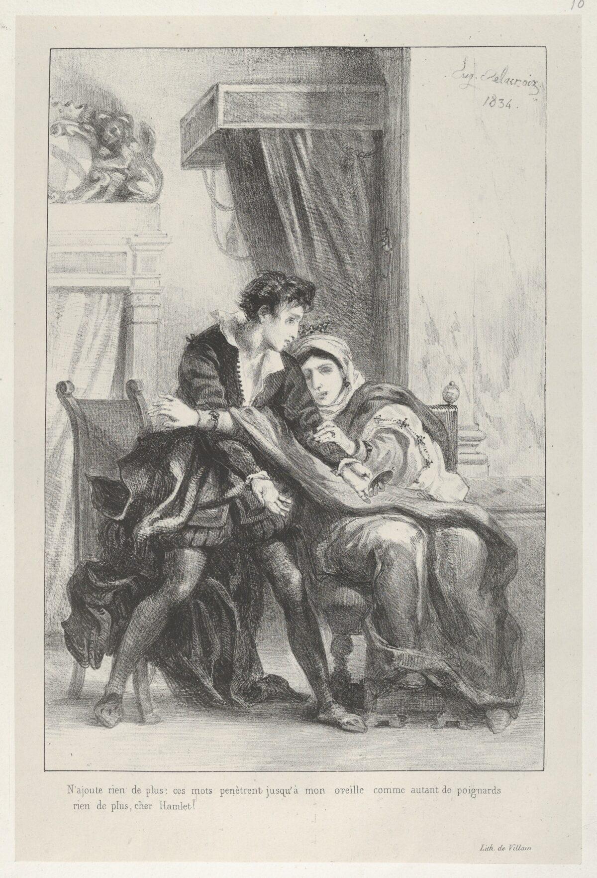 Delacroix's Hamlet and the Queen