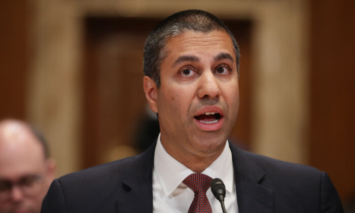 Federal Communication Commission Chairman Ajit Pai in the Dirksen Senate Office Building on Capitol Hill in Washington on May 7, 2019. (Chip Somodevilla/Getty Images)