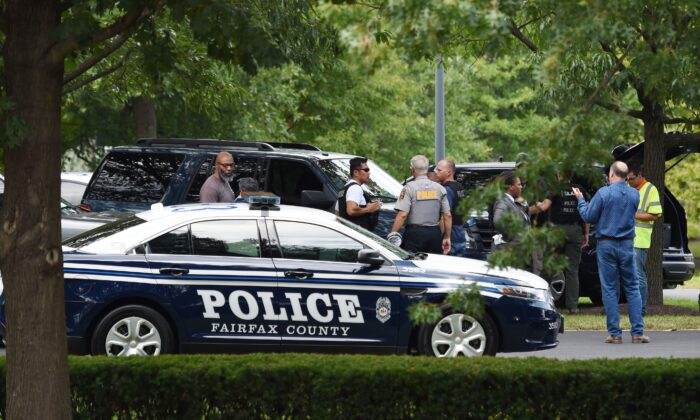 Police and first responders in Fairfax County, Virignia, in a file photograph. (Eric Baradat/AFP/Getty Images)