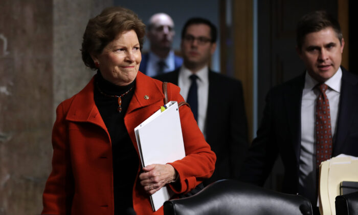 Sen. Jeanne Shaheen (D-N.H.) in the Dirksen Senate Office Building on Capitol Hill on Nov. 27, 2018. (Chip Somodevilla/Getty Images)