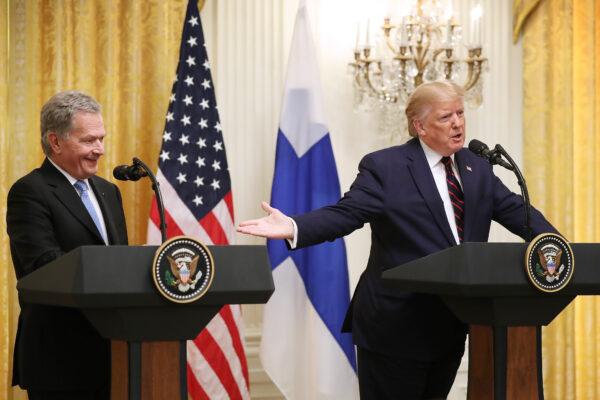 President Donald Trump and Finnish President Sauli Niinistö
