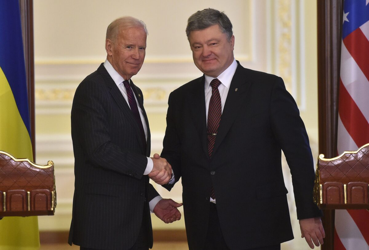 biden and poroshenko