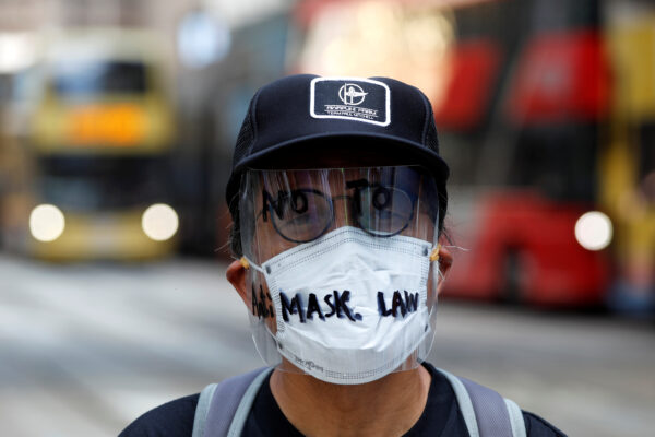 anti-mask law protests