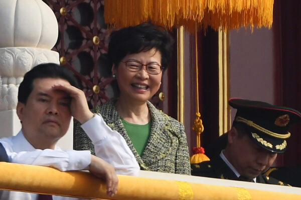 Carrie Lam in Beijing