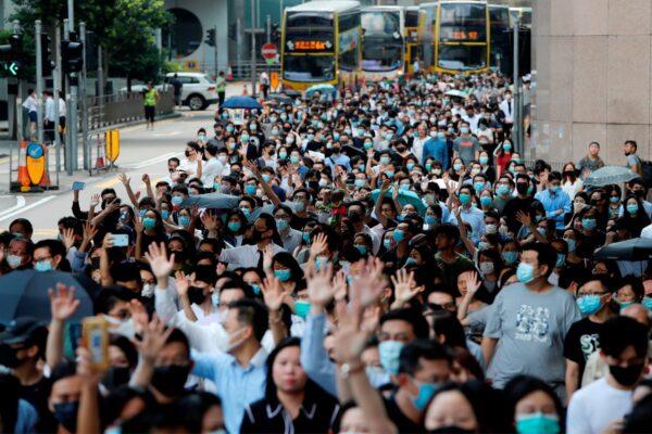 Anti-mask protests Hong Kong