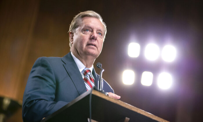 Senate Judiciary Chairman Lindsey Graham (R-S.C.) at the U.S. Capitol in Washington on May 15, 2019. (Anna Moneymaker/Getty Images)