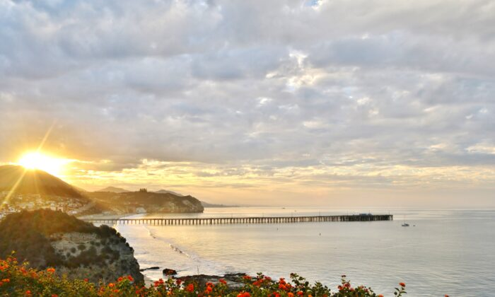 Avila Beach pier at sunrise. (Courtesy of Highway 1 Discovery Route)