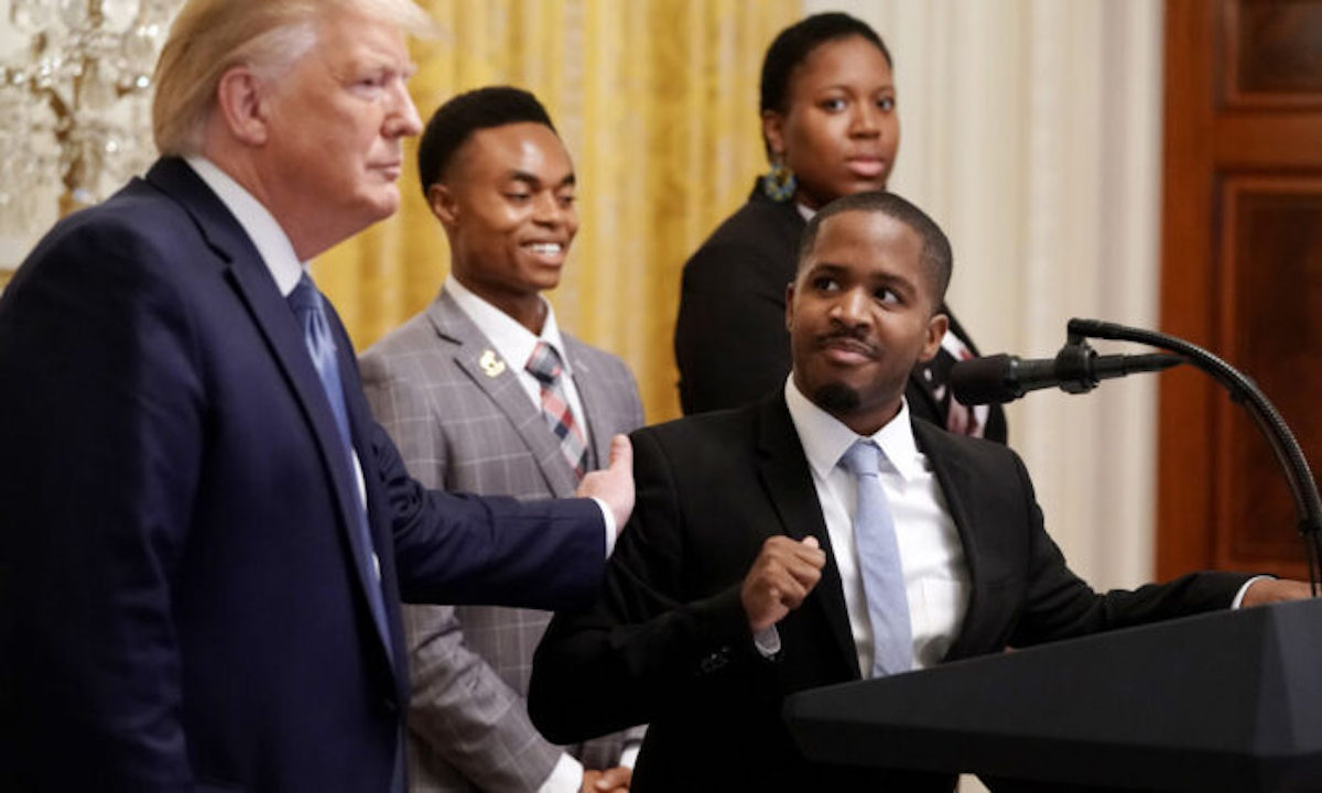 Trump to Young Black Conservatives: 'We'll Drain the Swamp'
