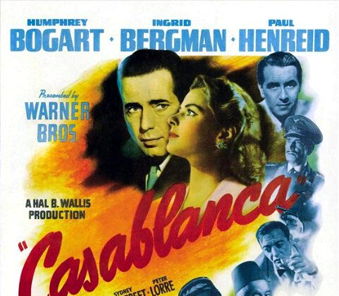 "Poster for ""Casablanca,"" 1943, a film that repeating comes up on lists of the best movies of all time. (Warner Bros.)"