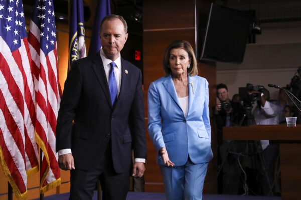 Speaker of the House Nancy Pelosi (D-Calif.) and Rep. Adam Schiff (D-Calif.),