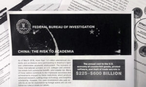 FBI Campaign Alerts US Campuses About China Theft Threat