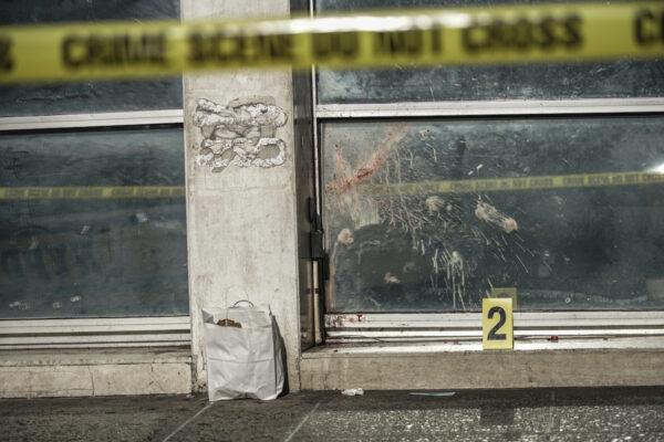 A crime scene is seen where 4 homeless men beaten