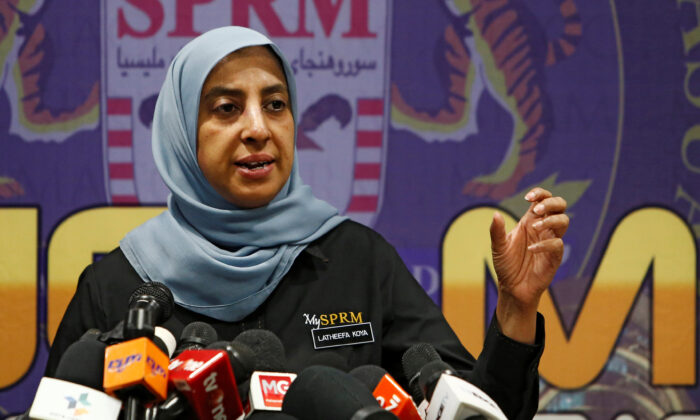 Malaysian Anti-Corruption Commission (MACC) Chief Commissioner Latheefa Koya speaks during a news conference in Putrajaya, Malaysia, on June 21, 2019. (Lai Seng Sin/Reuters)