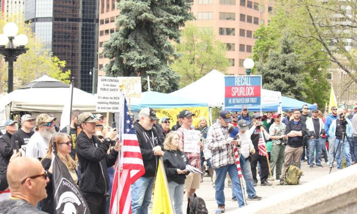 Take Back The Second Rally hosted by Rally for our Rights at the Colorado State Capitol on May 18, 2019. (Courtesy of Lesley Hollywood)