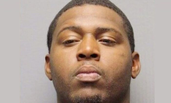 Clint Walker, 27, reportedly had his ankle monitor removed after he didn't pay (Harris County Sheriff's Office)