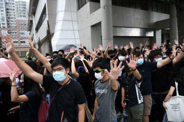 Hong Kong anti-mask protest
